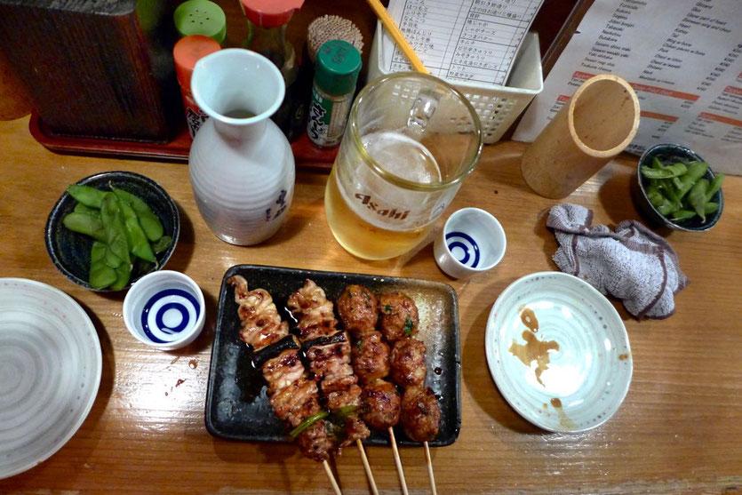 Osaka Izakaya sake bar Gappo near Dotonbori