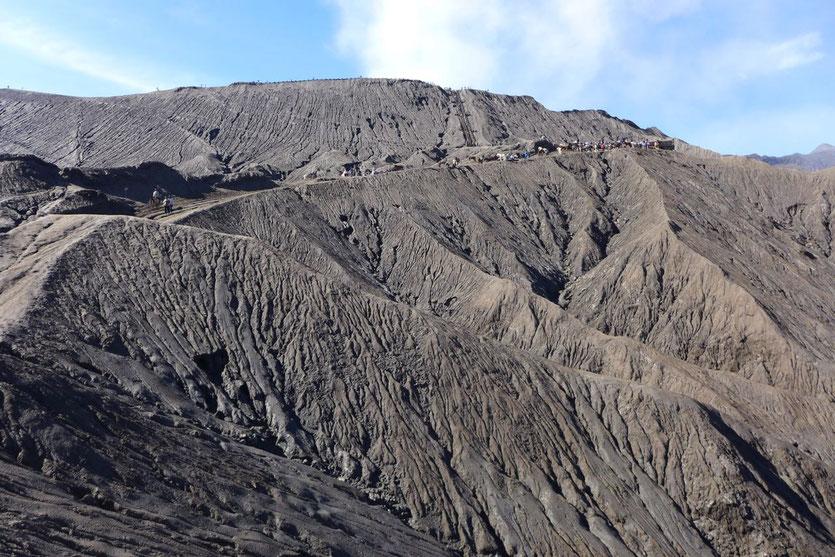 Mount Bromo Stufen Aufstieg Besteigung Vulkankrater Java
