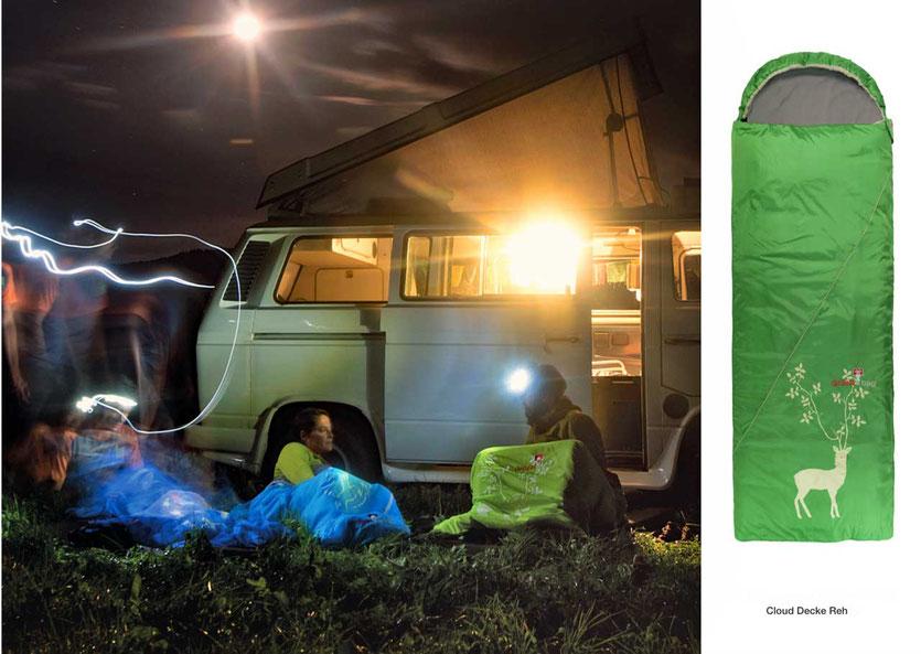 Camping-Schlafsack-Decken von Grüezi-Bag, Cloud Decke Reh