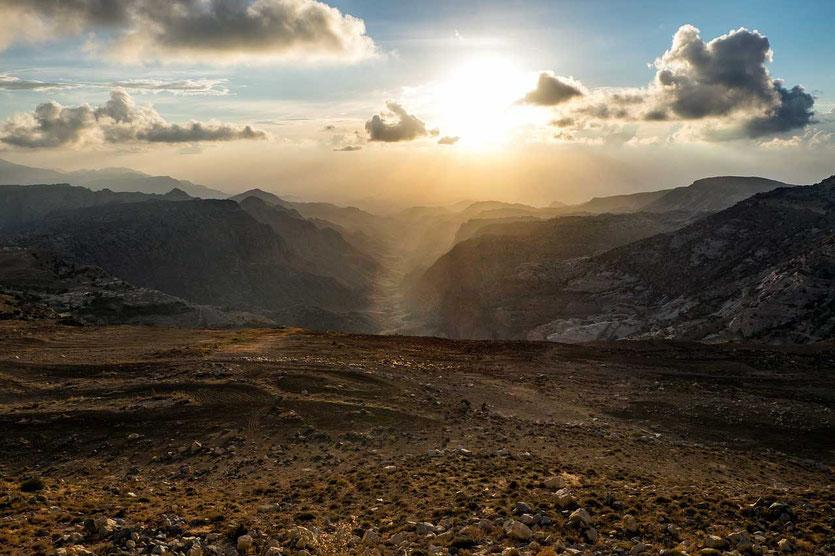 Jordanien Nationalpark Dana Wadi Ghweir hiking trail