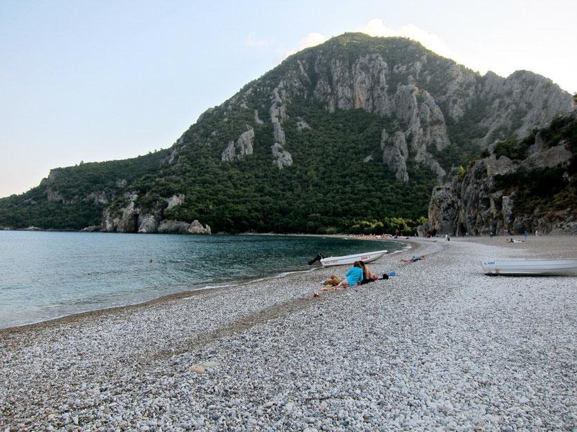 Der Strand bei Olympos Türkei Lykische Küste
