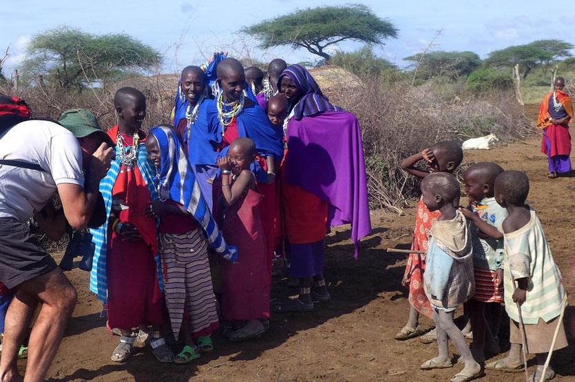 Besuch beim Massai Dorf Massai Boma