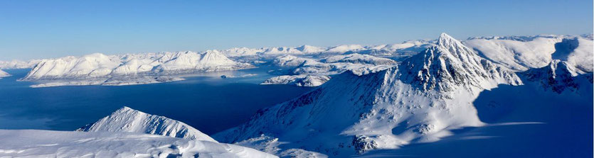 Storgalten Nord Lenangen Lyngen Alps Skitour Norwegen