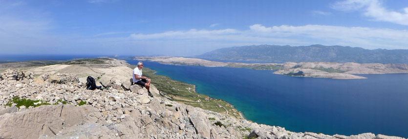 Insel Pag Wanderung Sveti Vid Berg Kroatien
