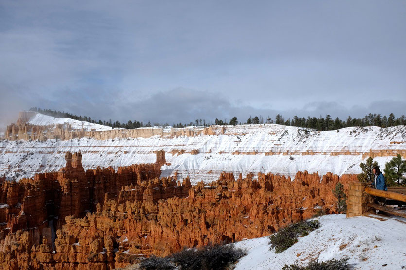 Bryce Canyon nach kurzem Schneeschauer