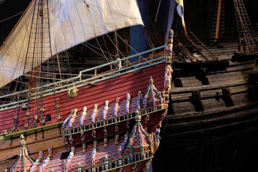 Vasa Schiffsmodell und das Orginal