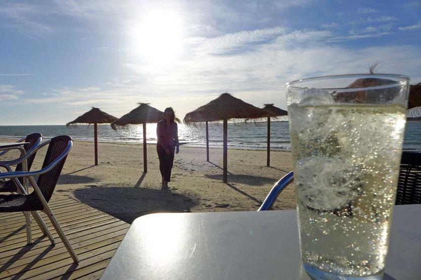Chiringuito Strandbar Rebujito Drink, Sanlúcar de Barrameda