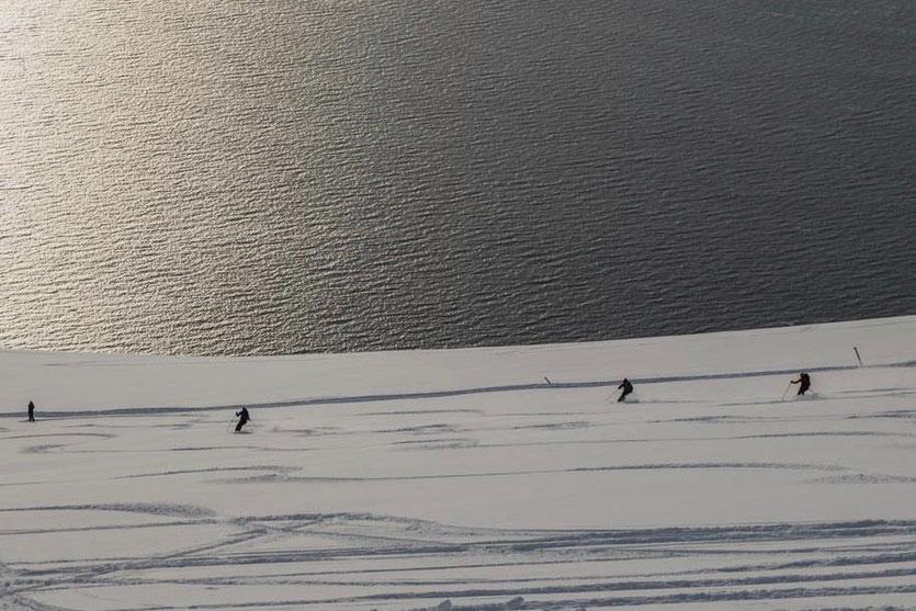 Lyngen Alpen Norwegen Insel Arnoya