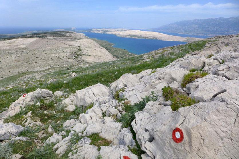 Insel Pag Wanderung Hiking Sveti Vid