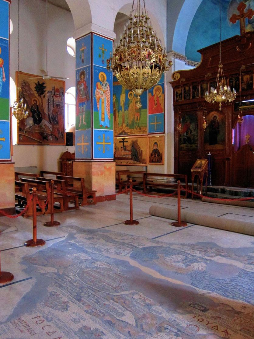 Palästina Karte St. Georgskirche - Madaba