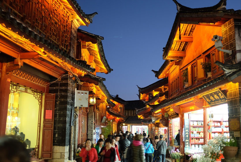 Lijiang Altstadt, Lijiang Old Town at night