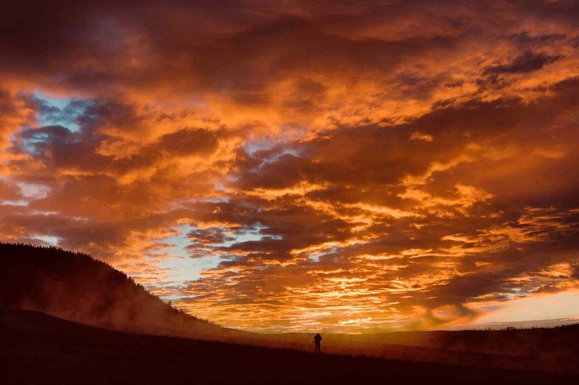 Sonnenaufgang im Yellowstone
