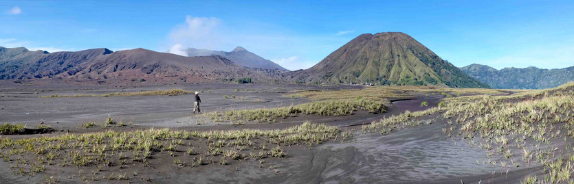 Sand of Sea hiking Mount Bromo  java