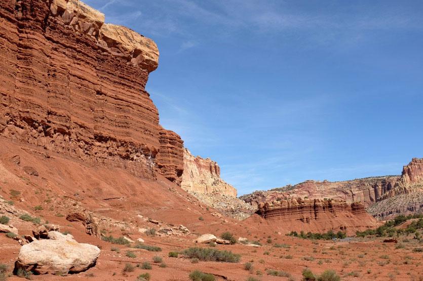 Utah Capitol Reef National Park Scenic Drive USA Südwesten