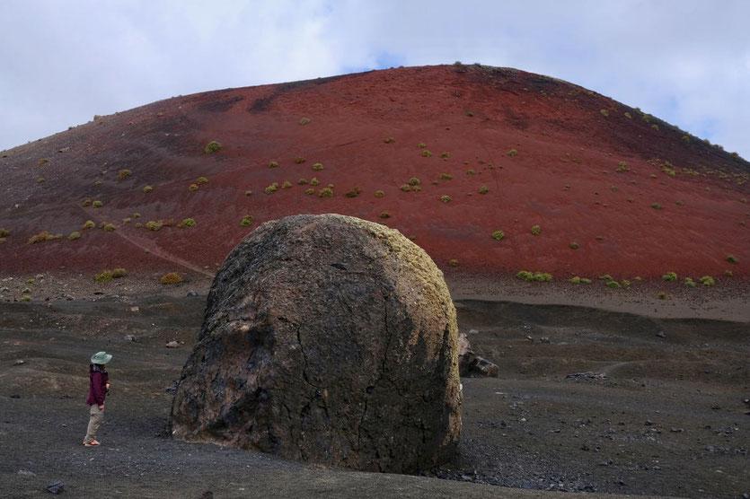Vulkanbombe Wanderung Caldera Colorada Lanzarote