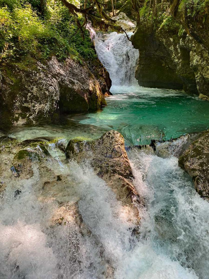 Šunik-Wasserhain (Šunikov vodni gaj) Soca-Tal Slowenien