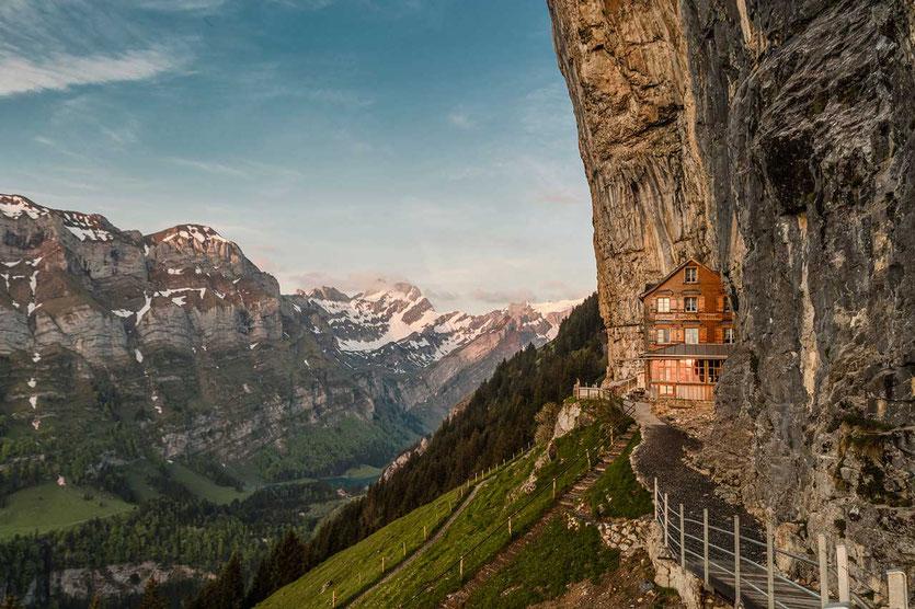 Berggasthaus Aescher-Wildkirchli im schönen Appenzeller Land