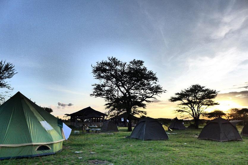 Camping safari tent Tanzania