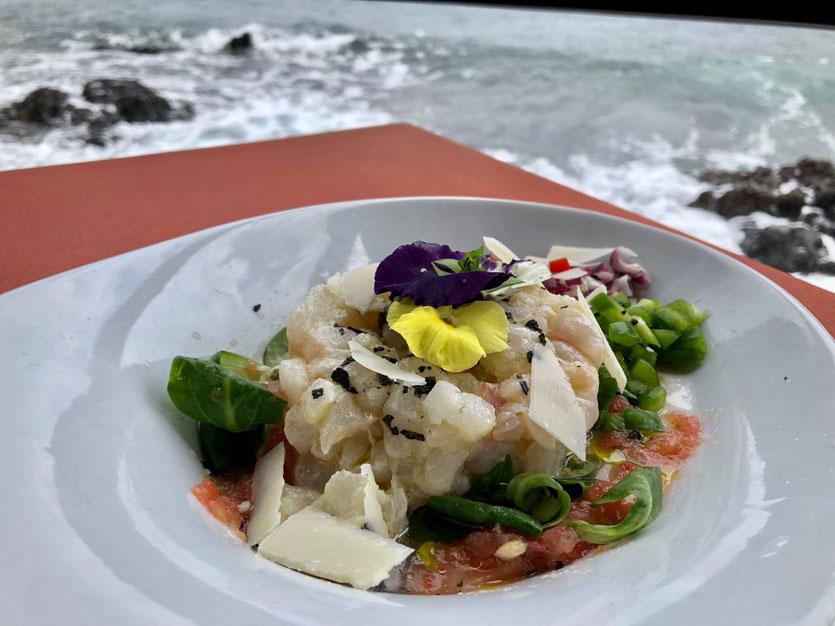 Ceviche im Fischrestaurant La Nasa am Meer Arrieta Lanzarote