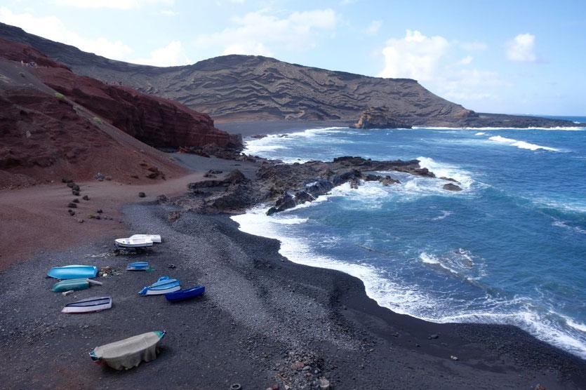 Strand von El Golfo Lanzarote