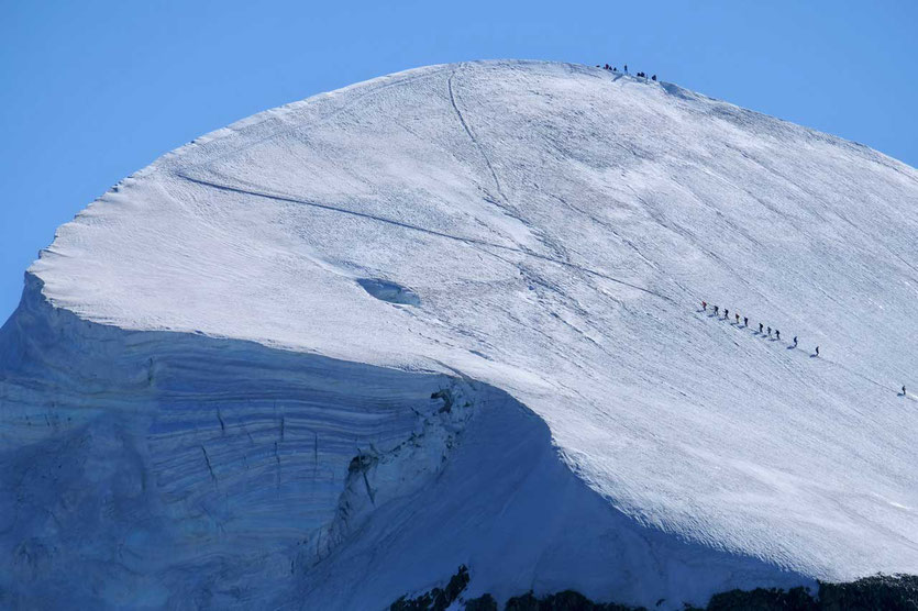 Schneewanderung zum Breithorn Zermatt