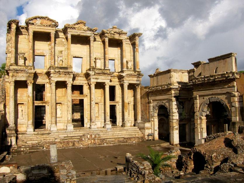 Celsus Bibliothek in Ephesus Türkei