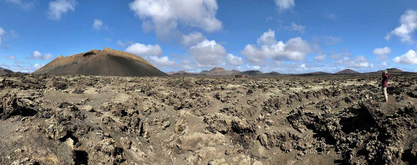 Vulkan Wanderung Lehrpfad Caldera de los Cuervos Lanzarote