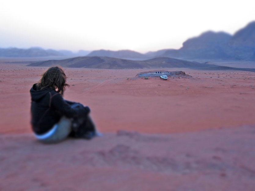 Abendruhe im Wadi Rum, Jordanien