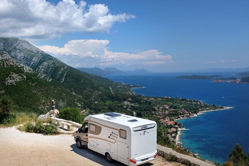 Wohnmobil Reise Kroatien Peljesac Dalmatien Kroatien