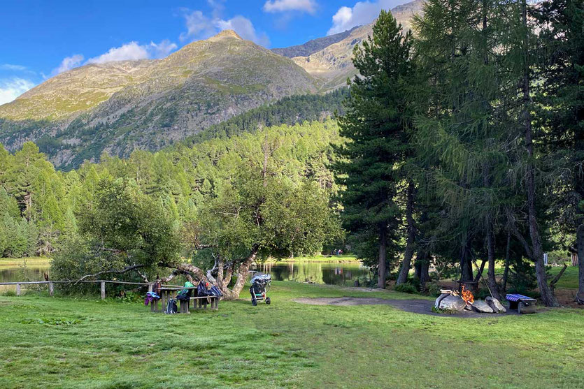 Am Marschsee Picknick-Feuerstelle bei St. Moritz