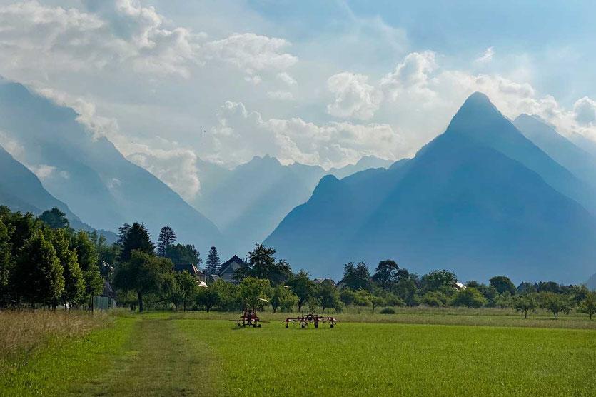 Landschaft um Bovec