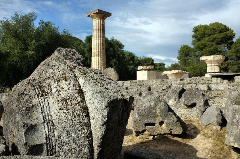 Ruinen Kultstätte Olympia, Peloponnes