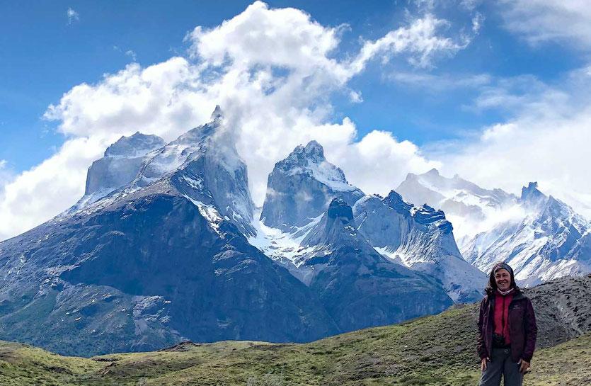 kurzen Wanderung zu den Cuernos del Paine