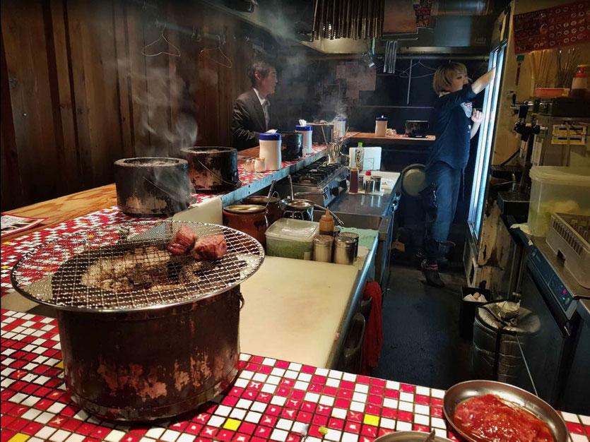 Yakiniku Japanisches BBQ grill restaurant Osaka