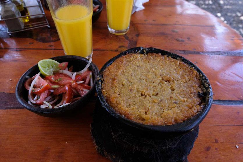 Maisauflauf 'Pastel de Choclo' ist ein chilenisches Nationalgericht