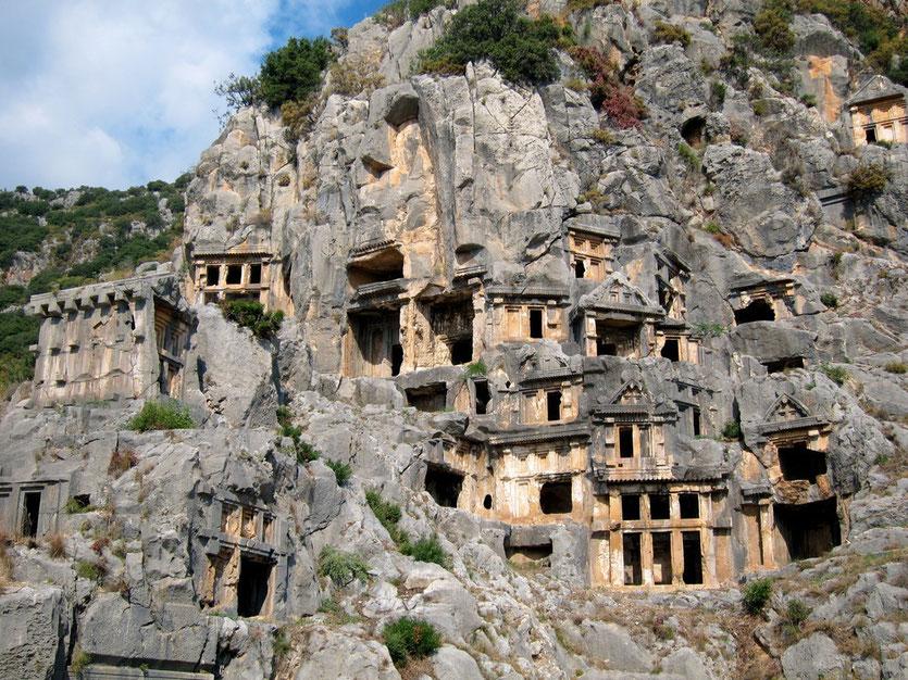 Felsengräber Antikes Myra Türkei Lykische Küste