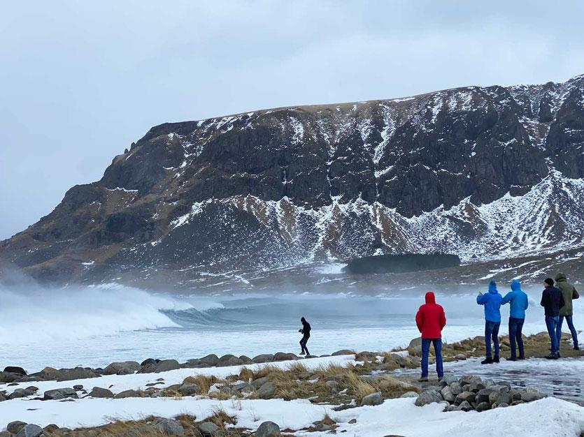 Norwegen Lofoten – Strand von Unstad