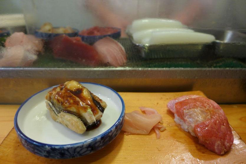 Aal und ein traumhafter fetter Toro Tuna bei Daiwa Sushi
