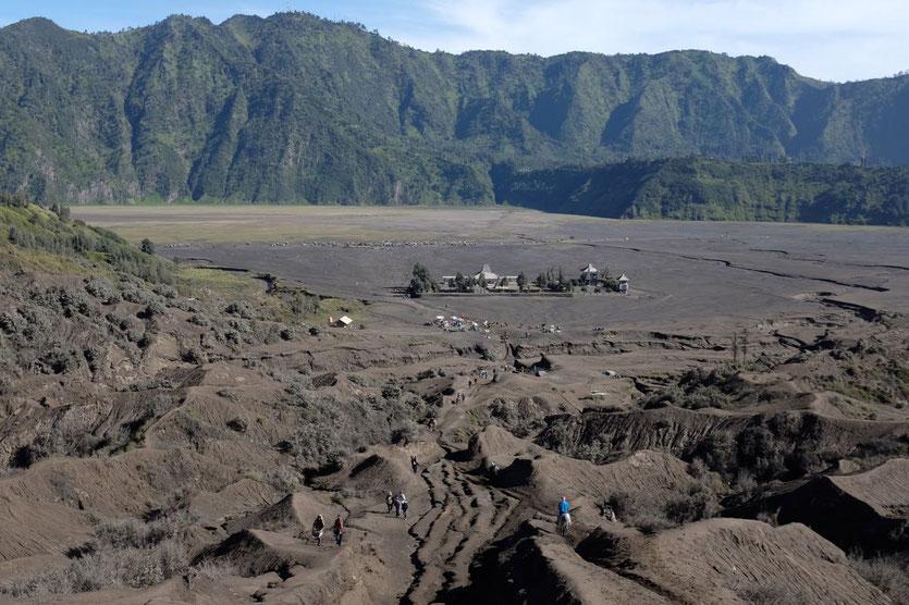 Mount Bromo Aufstieg Besteigung Vulkankrater Java