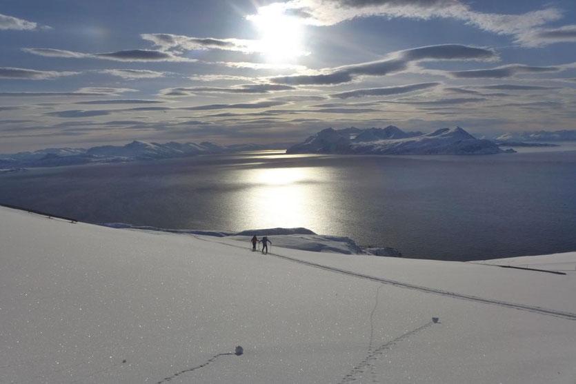 Skitour Lyngen Alpen Norwegen Insel Arnøya Trolltinden