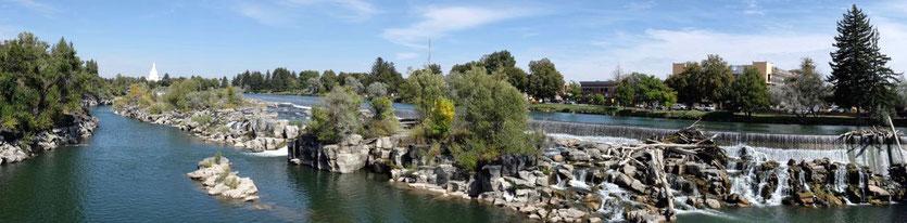 Idaho Falls schöne Stadt am Snake River