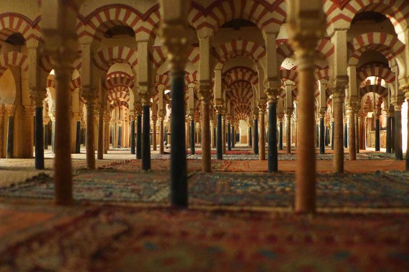 Museum Modell Mezquita von Cordoba zeigt die ursprünglichen Moschee