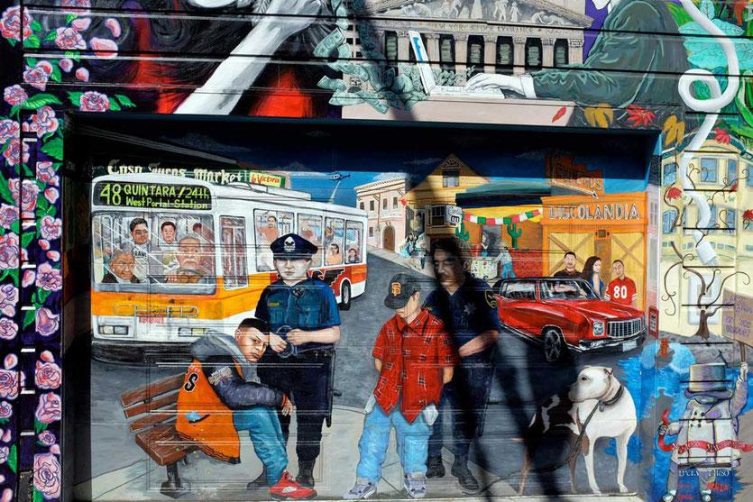 San Francisco Mission Mural Arts, Balmy Street Mural