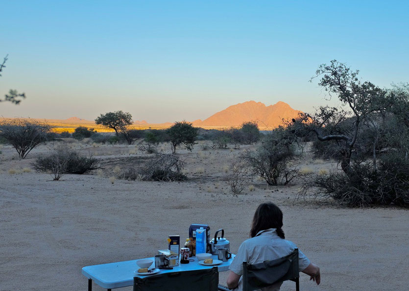 Camping Spitzkoppe Namibia