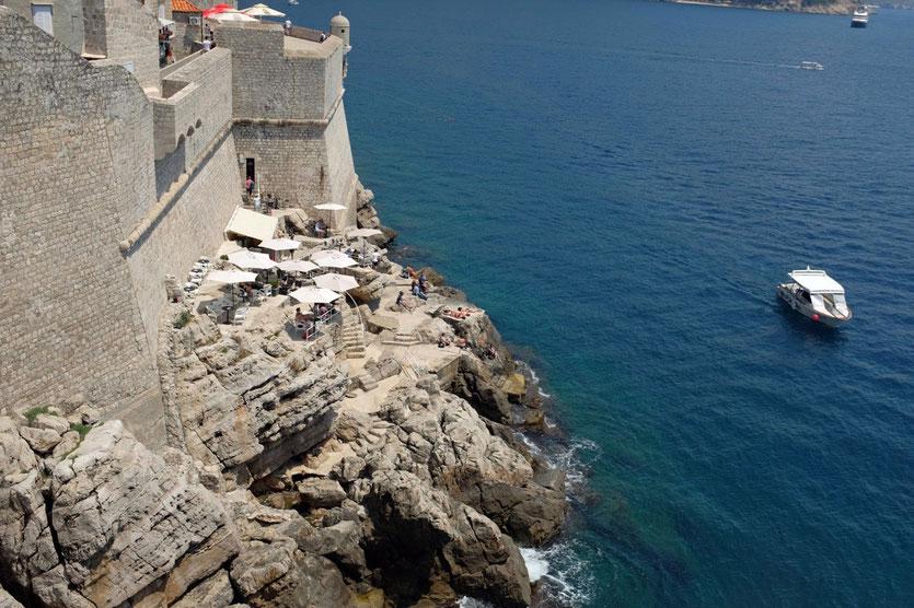 Dubrovnik Cafe Bars Meeres Klippen Tipps Sehenswürdigkeiten Stadttour