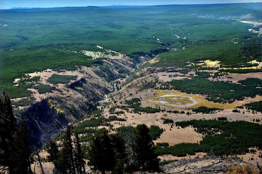 Yellowstone Caldera vom Gipfel Bunsen Peak