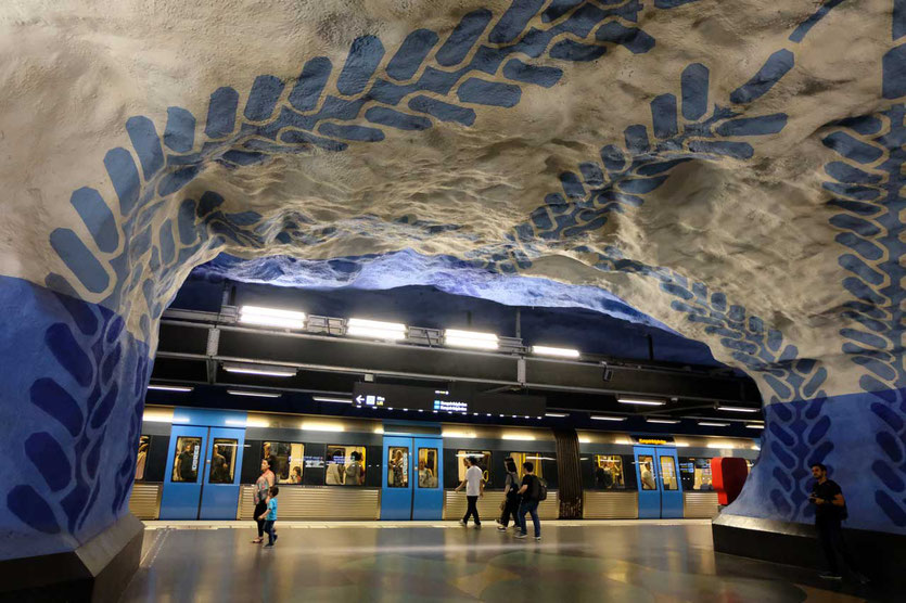 Stockholm Kunst Metro Station T-Centralen