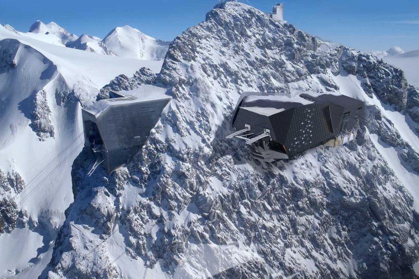 Zermatt futuristische Bergstation Matterhorn glacier paradise 3820m auf dem Klein Matterhorn