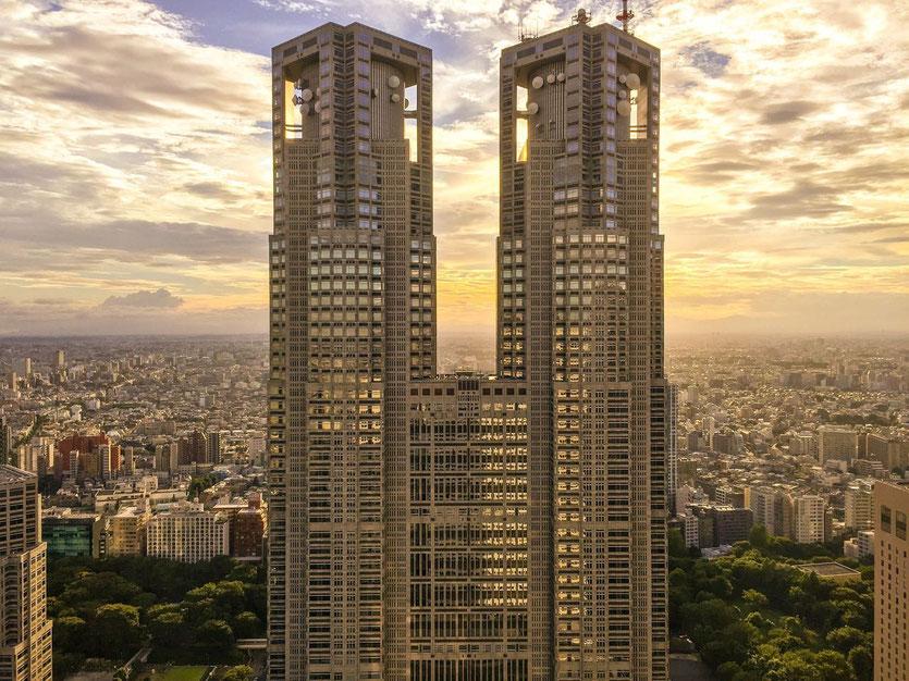 Tokyo Metropolitan Government Building in Shinjuku – Tokios Stadtverwaltung