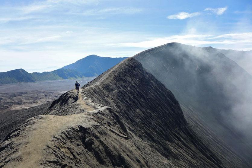 Bromo Kraterrand Besteigung Java Vulkan